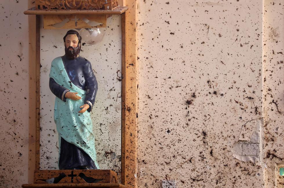 ההרס בסרי לנקה לאחר מתקפת הטרור (צילום: רויטרס)