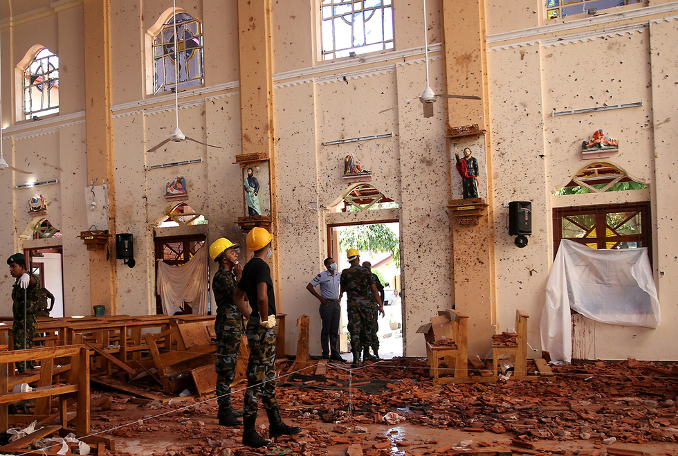 St. Sebastian's Church after the attacks (Photo: Reuters)