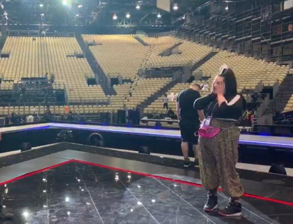 On the 2019 Eurovision stage