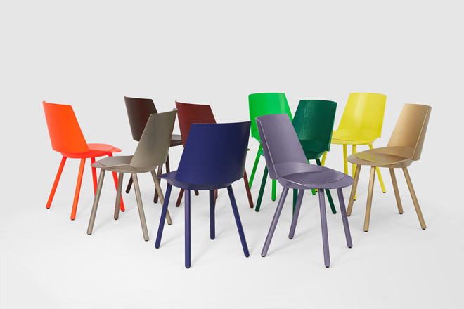 Houdini, הכיסאות שעיצב סטפן דיאז ל-e15 חוגגים עשור עם צבעים זרחניים