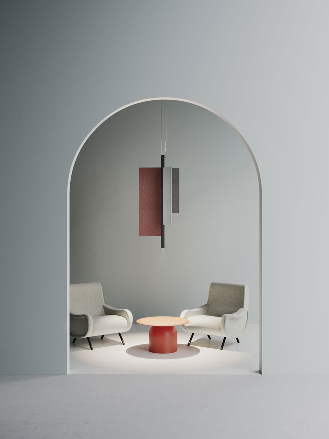 Trypta, גוף תאורה פיסולי בעיצוב סטפן בורקס ל-Luceplan