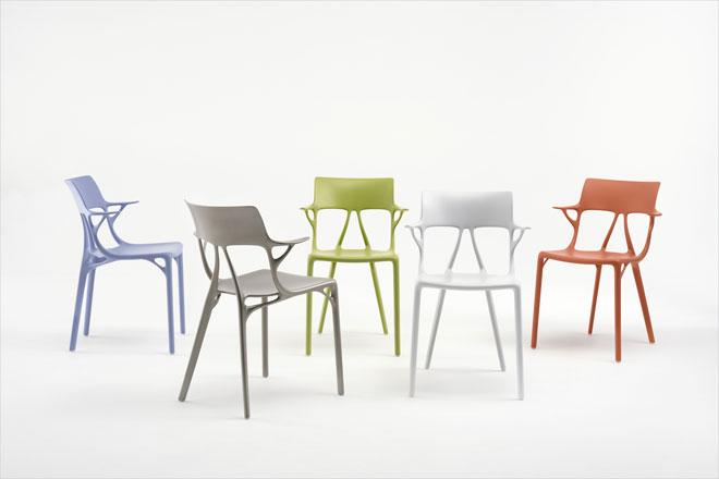 AI, כיסא הדגל החדש של קרטל, נולד משיתוף פעולה בין החברה, פיליפ סטארק ואוטודסק, שהוביל לתהליך עיצוב פרמטרי. ובמלים של סטארק: ''שאלנו את המחשב – בינה מלאכותית, האם תוכלי לומר לנו איך נוכל להושיב את גופנו במנוחה בכמות החומר המעטה ביותר האפשרית?''