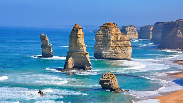 12 השליחים סלעים סטאקים אבן גיר ויקטוריה אוסטרליה (צילום: shutterstock)