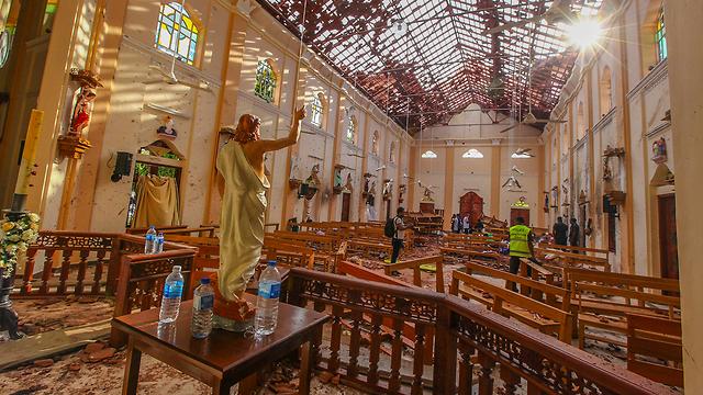 סרי לנקה מתקפת טרור נגומבו (צילום:AP)
