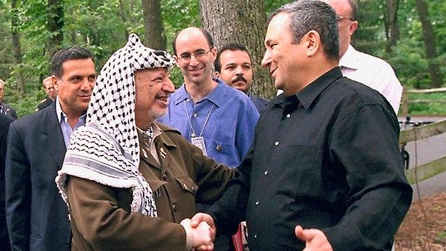 Yasser Arafat and Ehud Barak at Camp David in July 2000 (Photo: Getty Images)