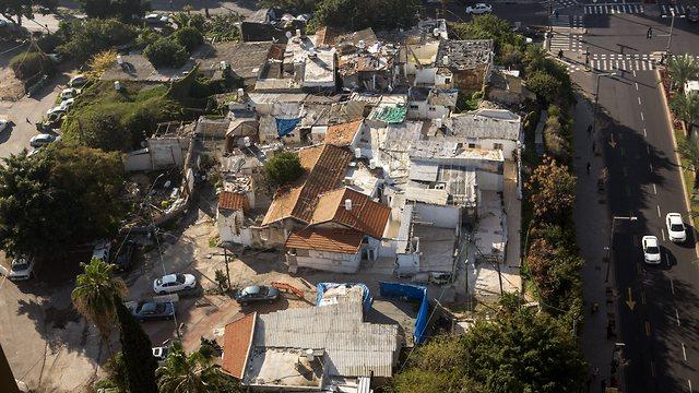 שכונת סומייל שנושקת לרחוב אבן גבירול ב תל אביב (צילום: תומי הרפז)