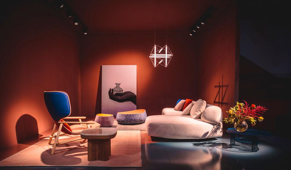 את Gogan, משפחת הרהיטים החדשה שהציגה מורוסו, עיצבה פטריסיה אורקיולה בהשראת חלוקי נחל (צילום: Joel Matthias Henry)