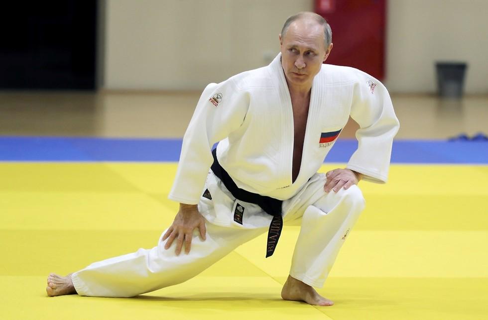 פוטין ג'ודו (צילום: AP)