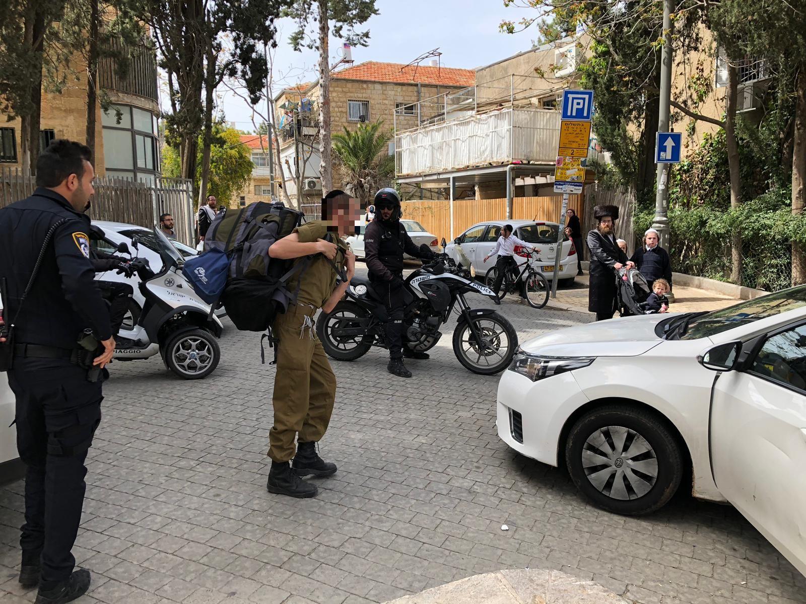 Нападение на солдата ЦАХАЛа в Меа-Шеарим. Фото: Лиран Тамри