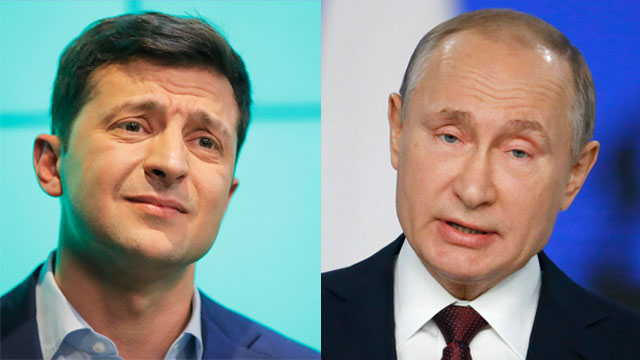 Владимир Зеленский; Владимир Путин. Фото: EPA, AP