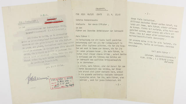 Hitler's 'suicide note' up for auction