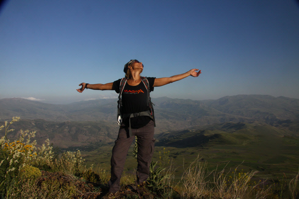 הלב מתרחב מול הנוף האדיר. מסע מאגמה צ'אלנג' בארמניה.  (צילום: איילה גוניאן)