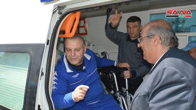 זידאן טויל, אחר האסירים ששוחררו בחזרה לסוריה בתמורה להשבת גופתו של זכריה באומל מהשבי ()