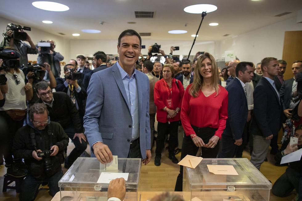 פדרו סנצ'ס ראש ממשלת ספרד המפלגה הסוציאליסטית (צילום: gettyimages)