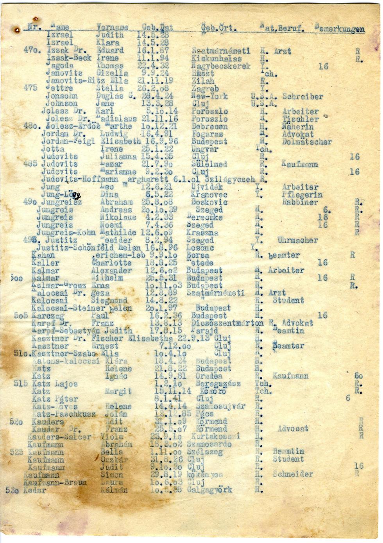 Kastner train list
