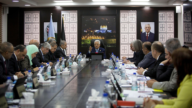 Palestinian Authority cabinet meeting (Photo: Reuters)