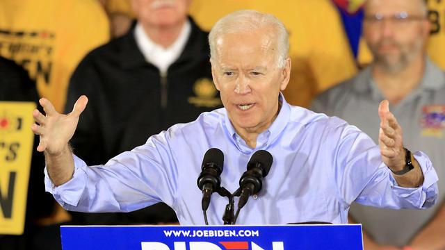 ביידן בעצרת בחירות ראשונה בפנסילבניה (צילום: רויטרס)