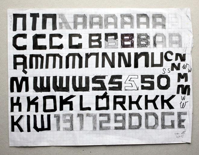 ''אחד האתגרים היה ליצור אותיות פולניות עם תוספות זוויתיות'' (עיצוב: זופיה יאנינה בורישביץ׳)