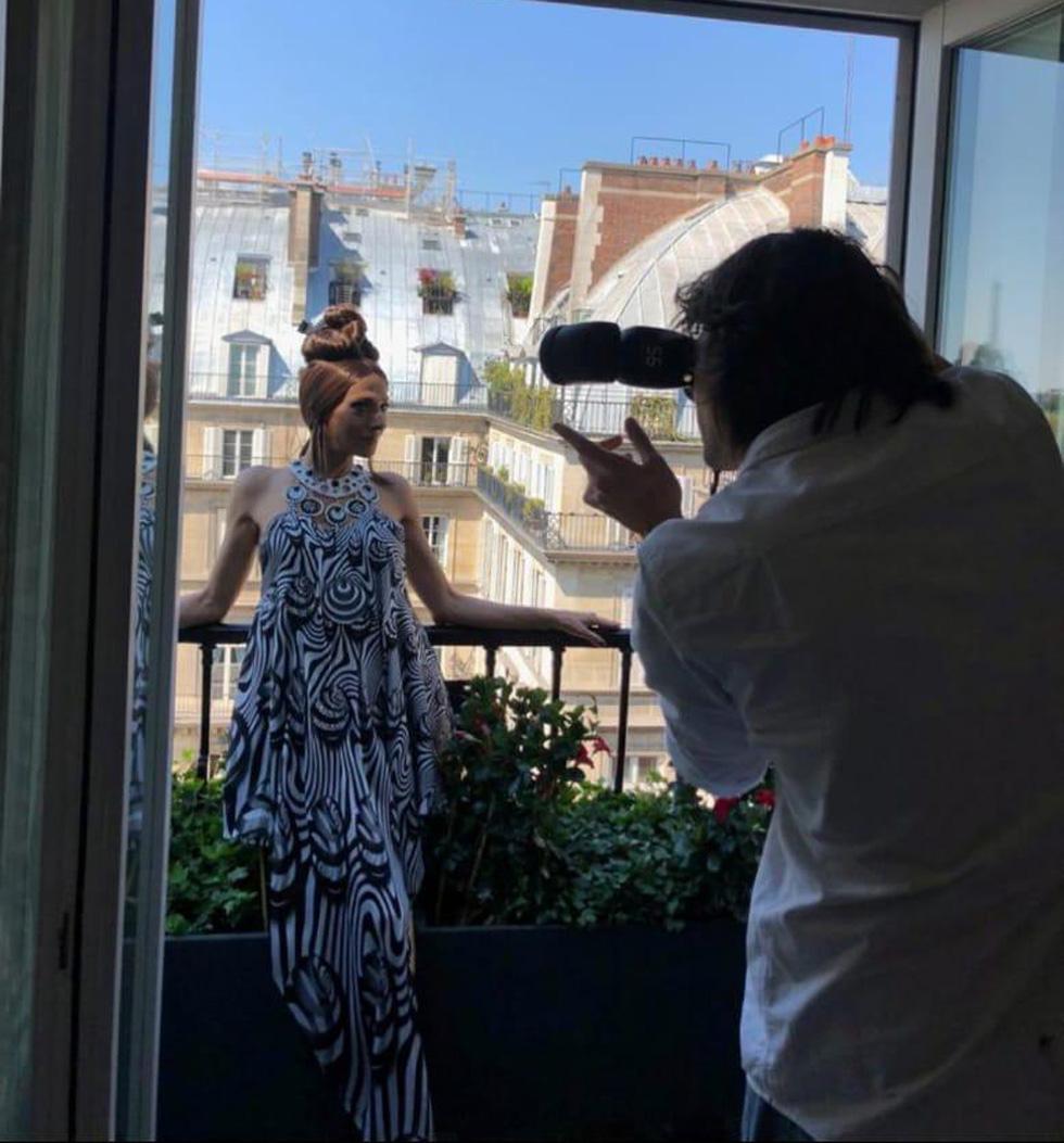 Дана на съемках в Париже. Фото: Офер Менахем
