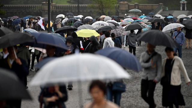 הקיסר אקיהיטו פורש טקס פרישה יפן טוקיו (צילום: AFP)