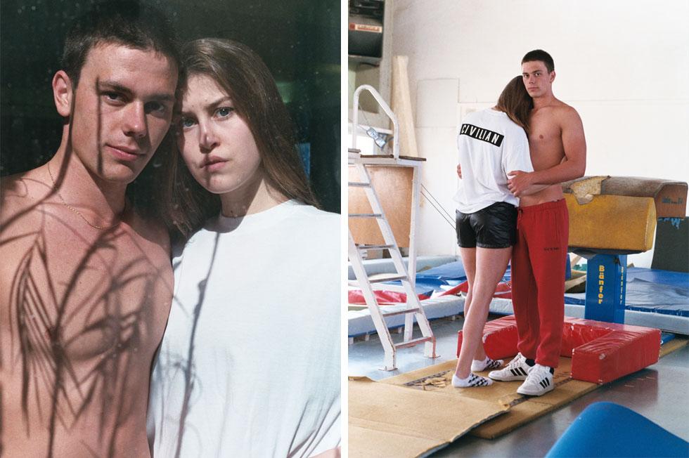 בני הזוג דניס לוקטב ולנה קוטין, שחיין ושחקנית כדורעף בני 19, המתגוררים בפנימיית הספורטאים מכון וינגייט (צילום: תום קנלר)