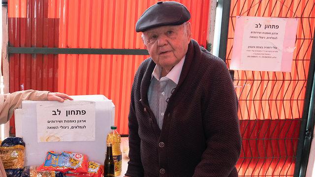 Ben-Avraham during his volunteer work