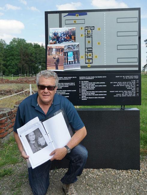 מיקי רוזנשטיין, בנה הבכור של חנה, מבקר באושוויץ. כאן קיבלה סבתו את ההחלטה הדרמטית (צילום: באדיבות משפחת רוזנשטיין)