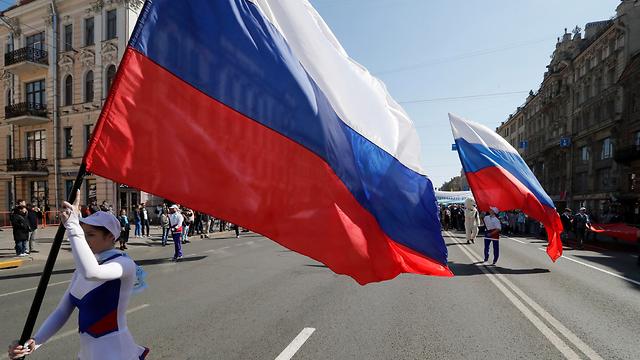 חג הפועלים 1 רוסיה סנט פטרבורג (צילום: EPA)