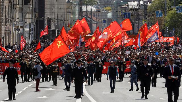 חג הפועלים 1 במאי רוסיה מוסקבה הכיכר האדומה (צילום: רויטרס)