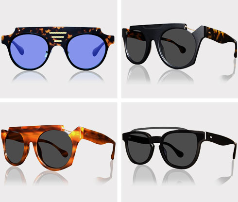 ארבעה דגמים של משקפי שמש, 950 שקל כל אחד (צילום: זוהר עזוז)