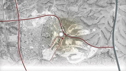 המרכז יקום במפגש בין רמות, פארק עירוני גדול, פארק ההיי-טק והאוניברסיטה המתרחבת (תוכנית: קימל אשכולות אדריכלים)
