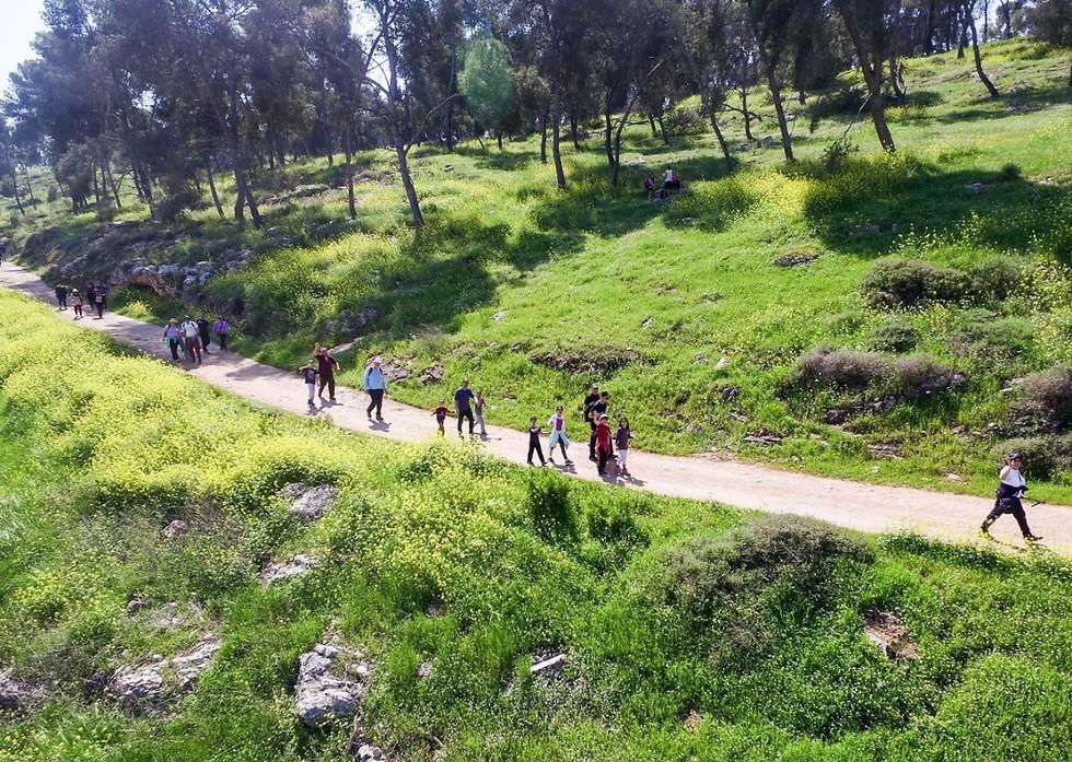 צעדת הגלבוע (צילום: מוא