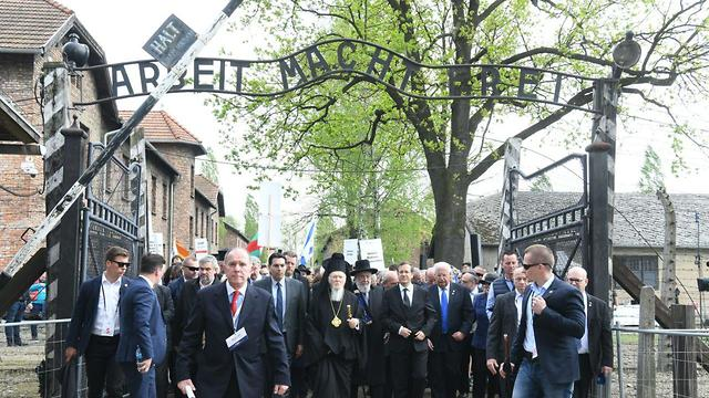 Jews and survivors participate in the March of the Living at Auschwitz death camp in Poland (Photo: Yossi Ziegler)