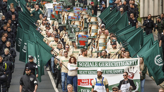 Far-right protest in Germnay on May 1st (Photo: Getty images)