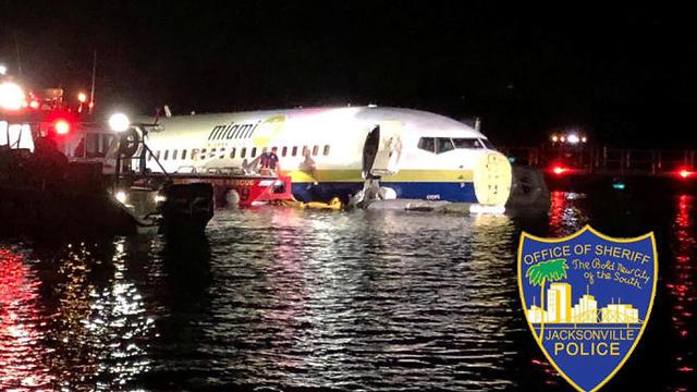 מטוס בואינג 737 נחת בנהר בפלורידה (צילום: רויטרס)