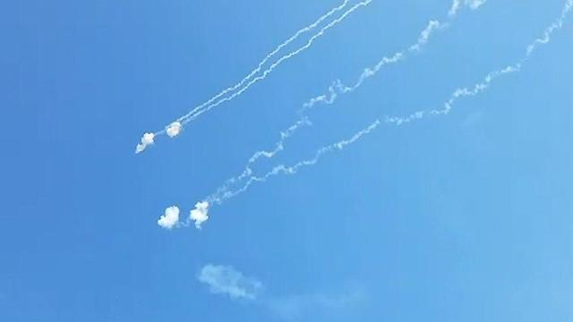 Iron Dome intercepts rockets fired from the Gaza Strip (Photo: Roee Idan)