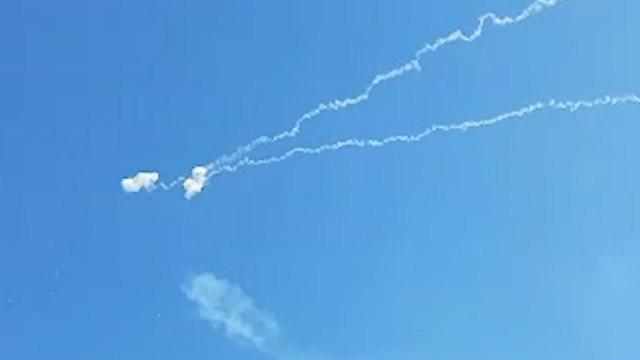 יירוט רקטה רקטות עוטף עזה (צילום: רועי עידן)