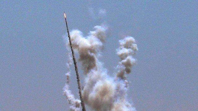 שיגור רקטה רצועת עזה ()