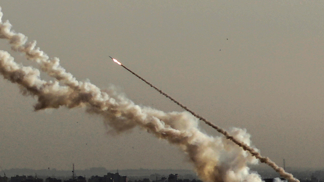 Rocket fire from Gaza during the last comonth's escalation of violence (Photo: EPA) (Photo: EPA)