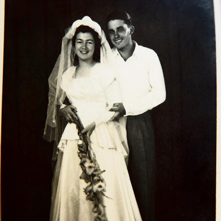 """""""הוא היה גבר מאוד נאה ומאוד אידיאליסט"""". מרים בן־פרץ ויוסף (יופ) קופלר בחתונתם"""
