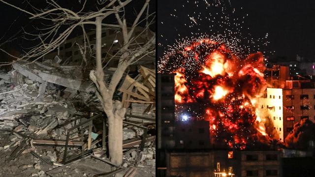 Разрушения на юге Израиля и в Газе. Фото:AFP