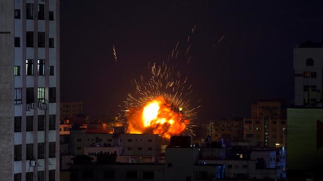 IDF airstrikes in Gaza on Saturday (Photo: AP)