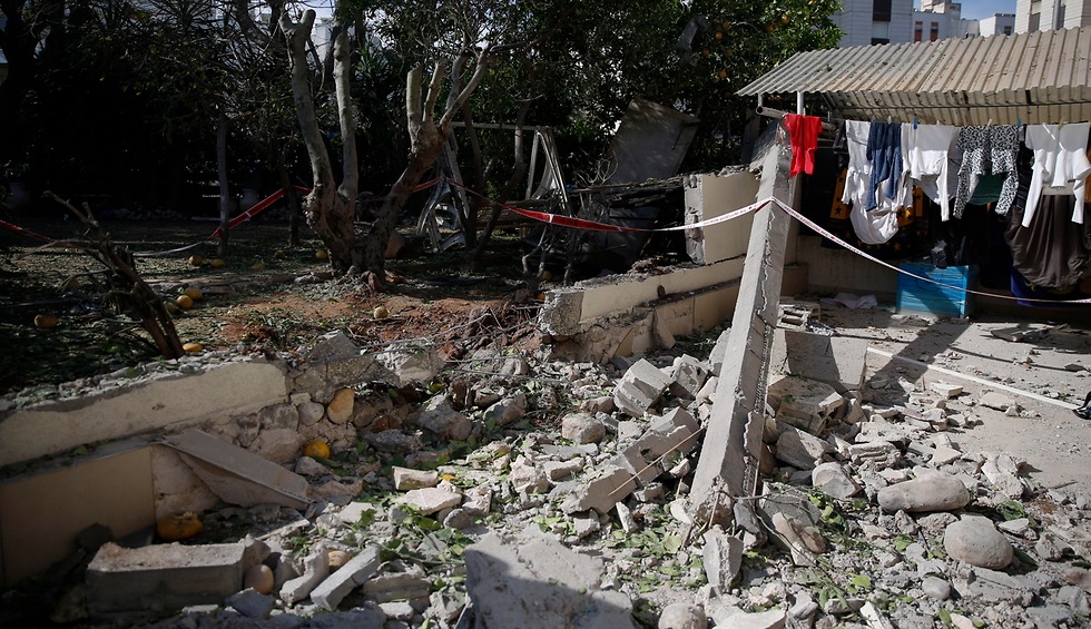 A home in Ashkelon damaged in a Gaza rocket strike (Photo: AP)