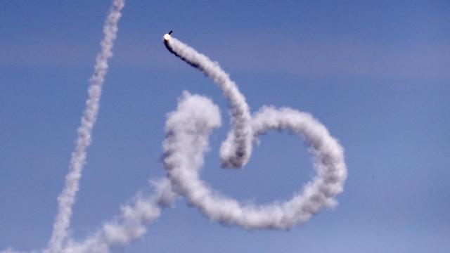 Rocket fire from Gaza at Israel (Photo: AFP)