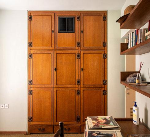 ארון קיר מהודר, בבית ללא מחיר (צילום: אילן נחום )