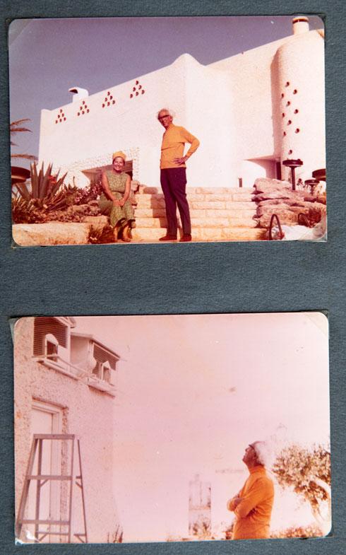 רובין הושפע מהבנייה הערבית וביקש לשלב בקירות צינורות חרס, המחדירים פנימה אוויר ואור (צילום: אילן נחום )