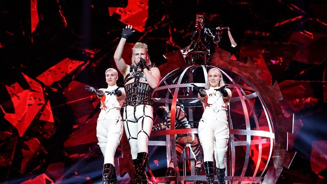 BDSM techno band Hatari intended to use its time on stage to criticize Israel's settlement policy (Photo: Thomas Hanses)