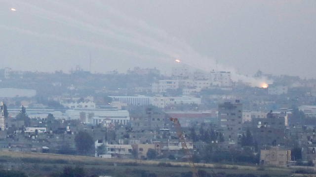 Rockets being launched from Gaza into Israel (Photo: Reuters)