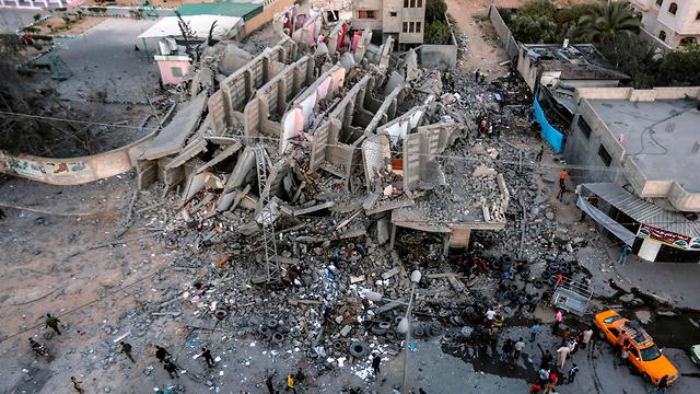 Объект в Газе, разрушенный ударом ВВС ЦАХАЛа. Фото: AFP