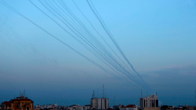 Rocket fire from Gaza towards Israeli communities (Photo: AFP)